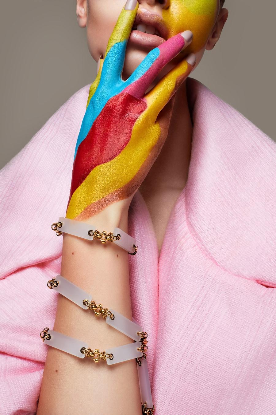 Chyba Jewelry - model wearing bracelets